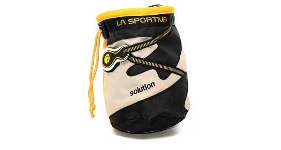 La Sportiva Solution Chalkbag hvid/sort